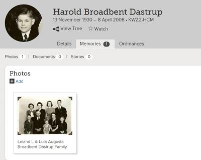 Show Harold Broadbent Dastrup