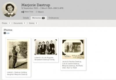 Show Marjorie Dastrup